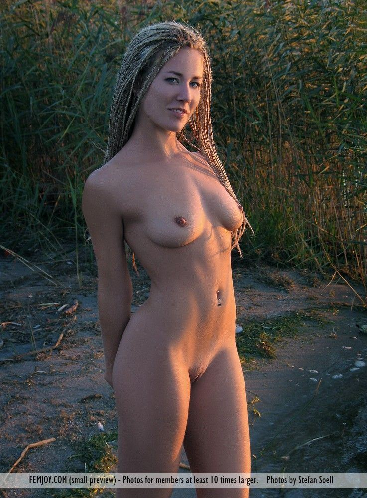 Sexy chick with dreads tits