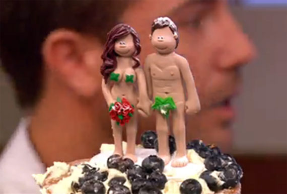 Naked lady cake toppers