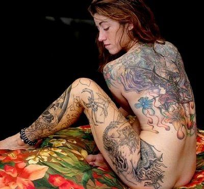 Sexy tattoos for nude women