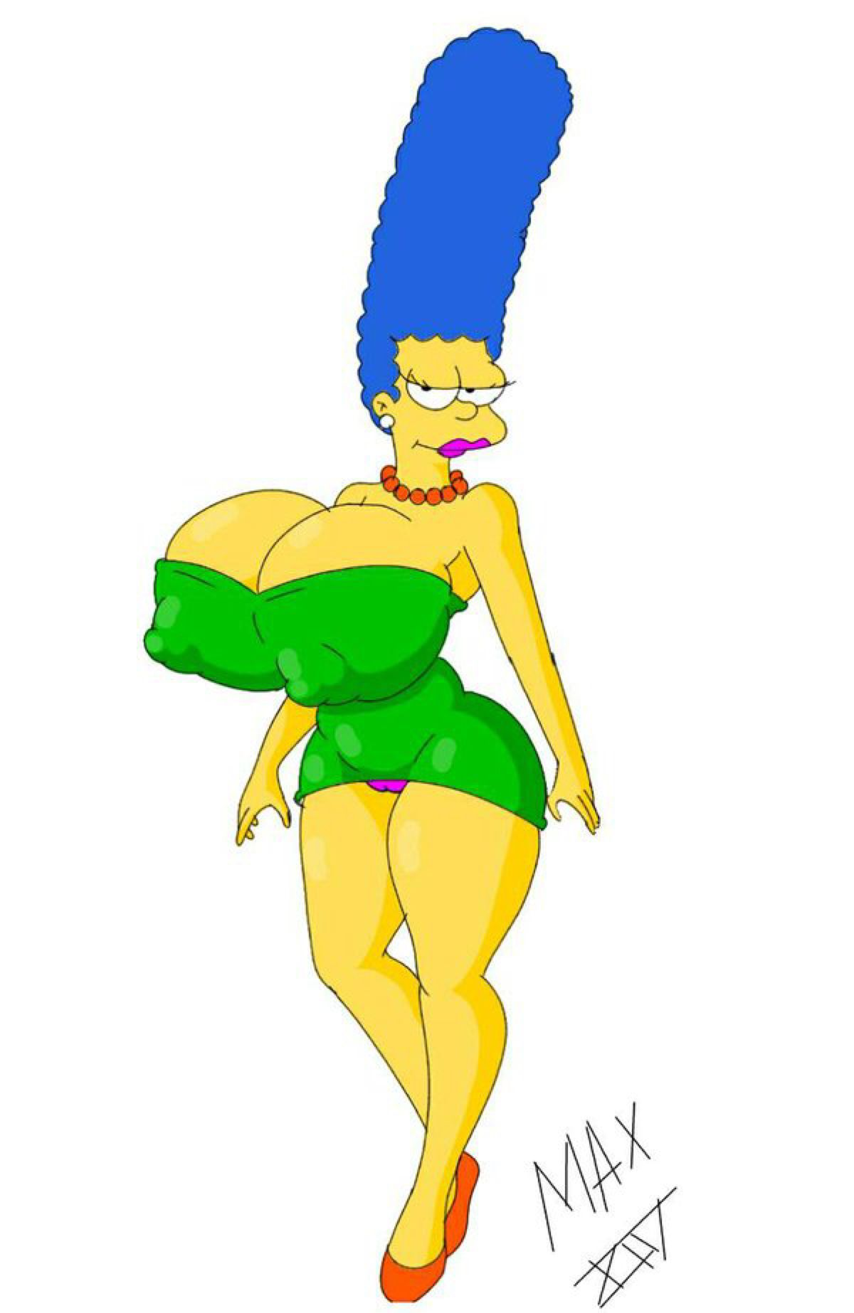 Busty sexy marge simpsons