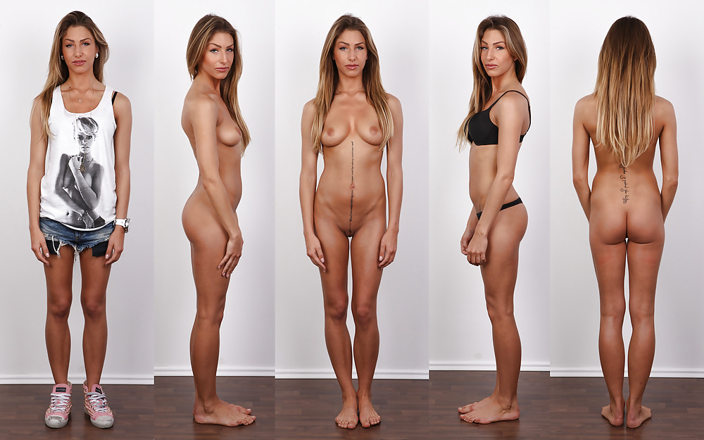Naked woman at theater