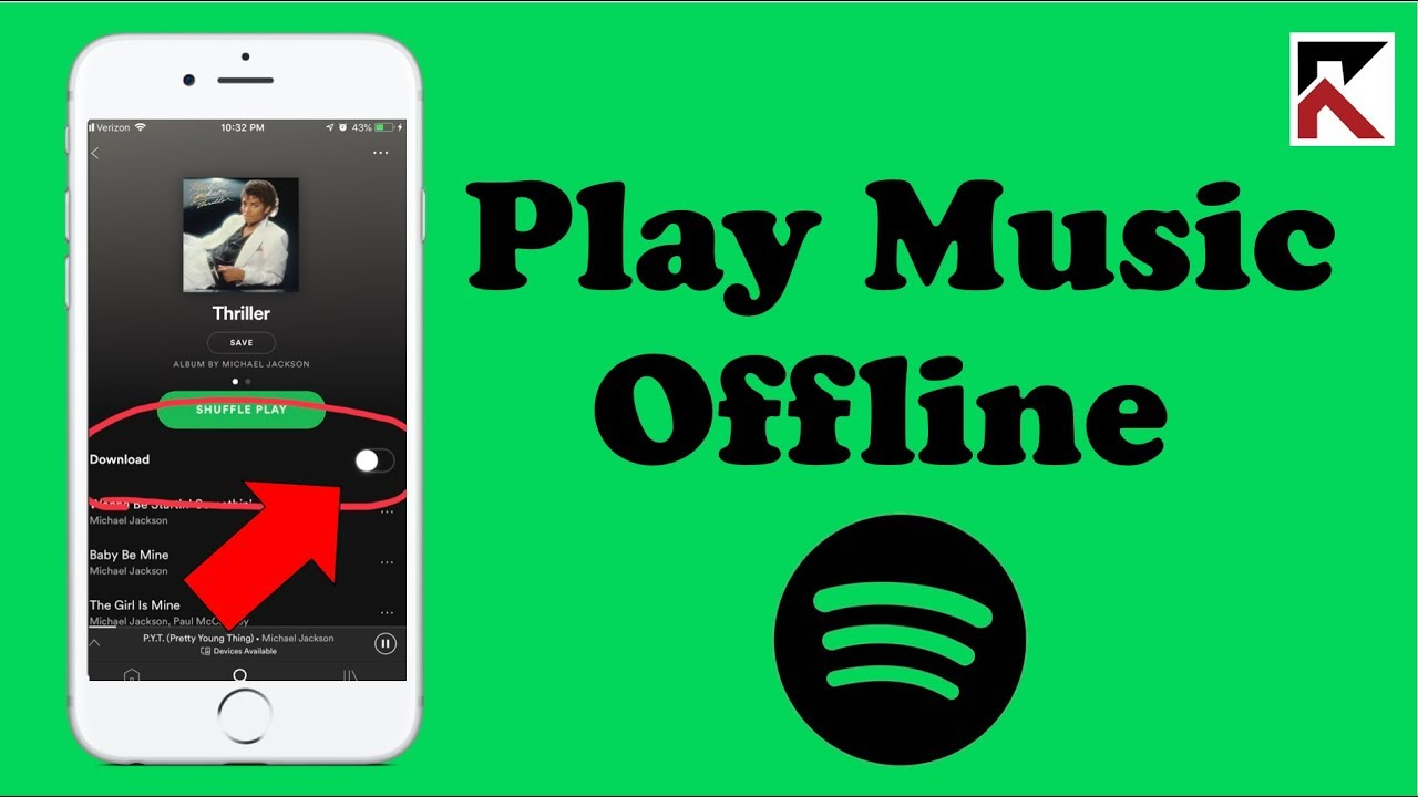 How to make offline playlist on youtube music