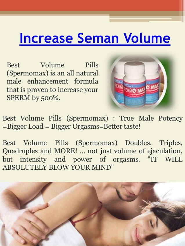 How to increase my sperm load